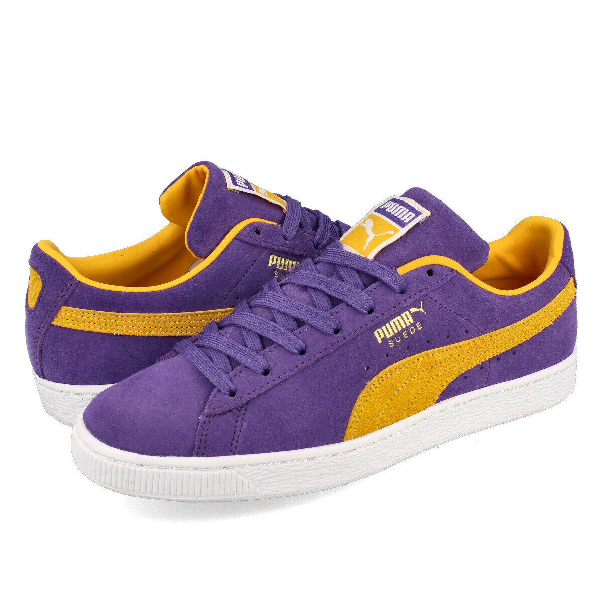 PUMA SUEDE TEAMS  LOS ANGELES LAKERS  プーマ スウェード チームス PRISM VIOLET SPECTRA YELLOW 380168-03